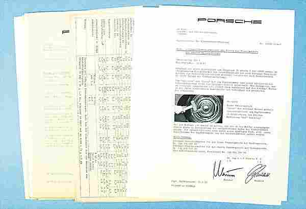 PORSCHE, mixed lot of circular letters of the cus