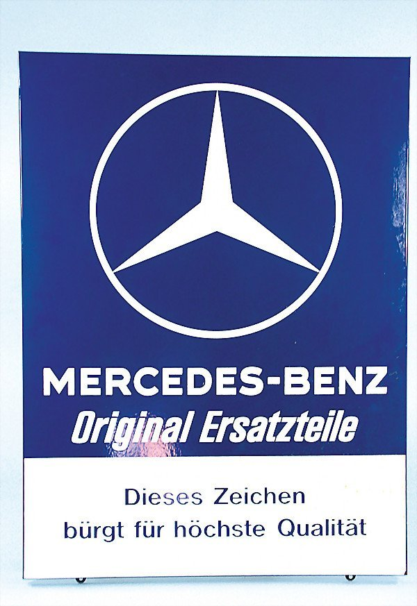 "2461: MERCEDES BENZ, enamel sign, from the 70's, ""Merce"