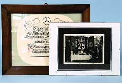 2514: DAIMLER-BENZ AG, honorary document for 25th year