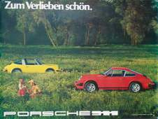 PORSCHE original advertisement poster Zum verlieben
