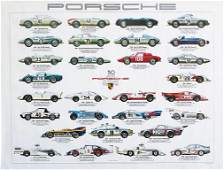 PORSCHE original advertisement poster Stammbaum