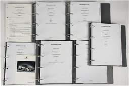 PORSCHE mixed lot of 6 files, technical information