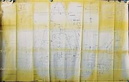 FERRARI Aug 20th 1964, original factory blueprint