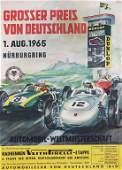 poster Grand Prix of Germany Nürburgring 1965, 84x59cm,