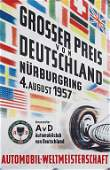 poster Grand Prix of Germany 1957, with rests of