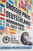 poster Grand Prix of Germany Nürburgring 1955, 85x56cm,