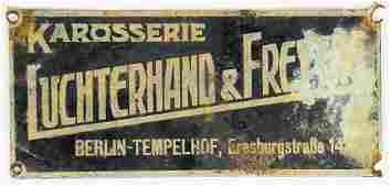 LUCHTERHAND &FREYTAG coachwork emblem by the company