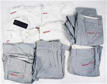 PORSCHE / FOOTWORK mixed lot with 10 pieces of team