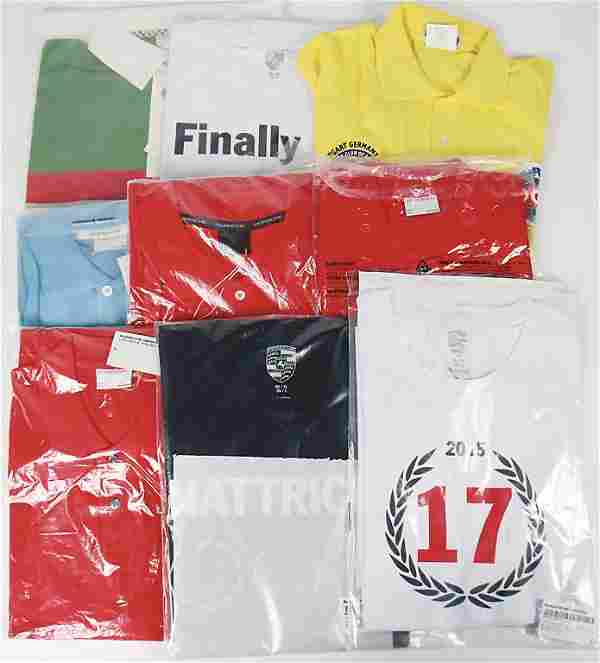 PORSCHE mixed lot with 9 pieces, among it 3 T-shirts