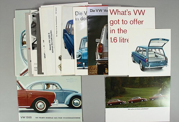 10009: VW, brochures, 25-pieces, 60's, the greater part