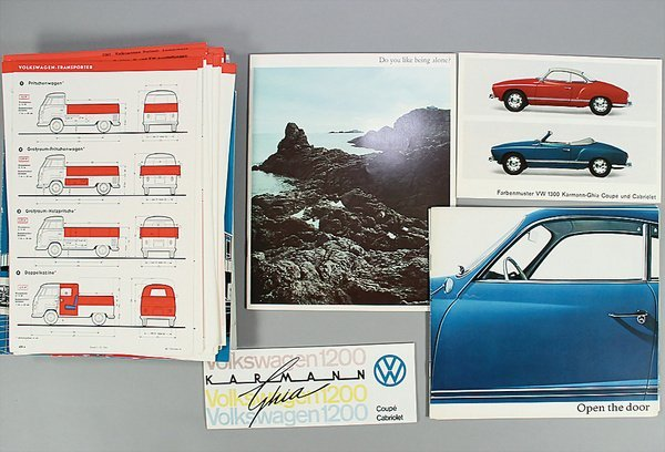 10010: VW, brochures, 51-pieces, the greater part from