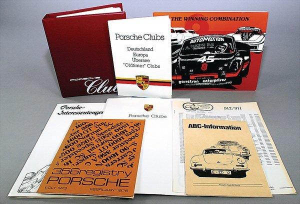 10011: PORSCHE, mixed lot of 7-parts, No. 1 Germany 198