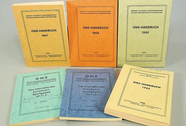 10014: ONS-HANDBÜCHER, mixed lot of 6 pieces, No. 1 Ger