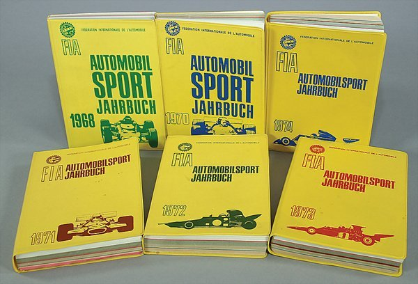 10016: FIA, automobile sport yearbook, mixed lot of 6 p