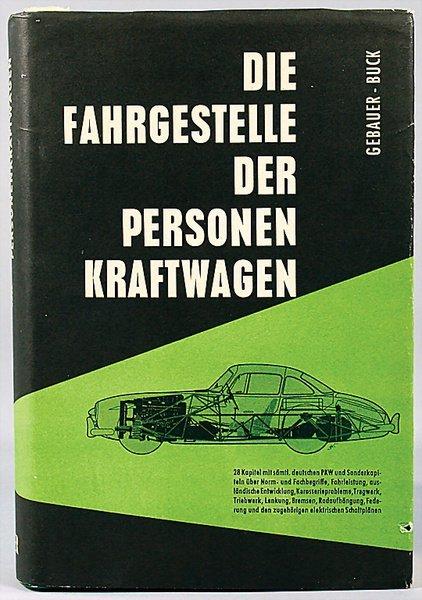 """10023: book: """"Die Fahrgestelle der Personen-Kraftwagen"""