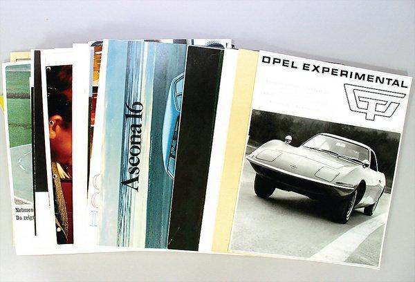 10024: OPEL, mixed lot 30--parts, different brochures i