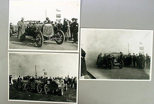 10923: GROßER PREIS VON FRANKREICH, 1908, 3 b/w photos,