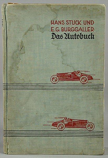 "10001: book ""Das Autobuch"", by Hans Stuck and E.G. Bu"