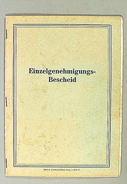 1409: approval decree, Austria 1966, vehicle type: Volk