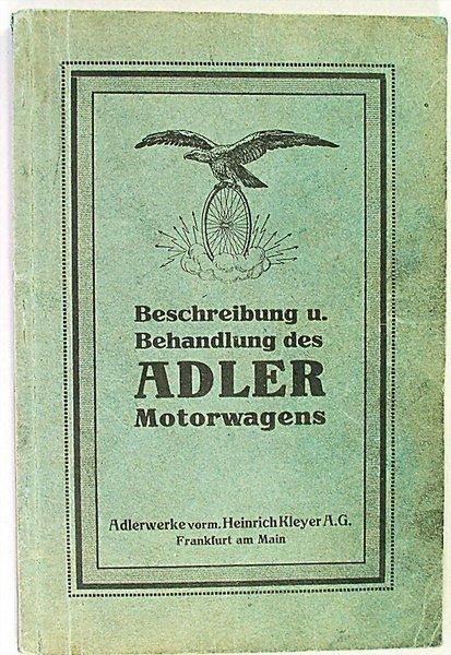 1414: ADLER, D 1912, description and handling of the Ad