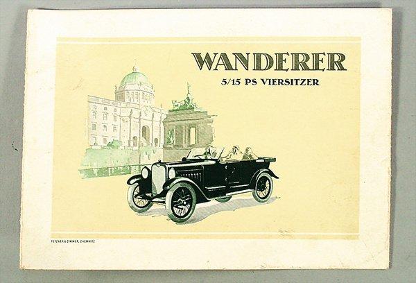"1416: WANDERER, D 1923, folder ""5/15 PS 4-Sitzer"", 8 pa"