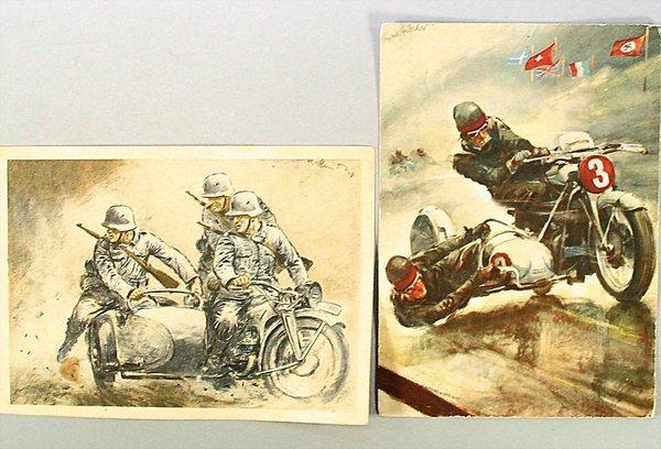 1417: mixed lot 2 postcards, study: Hans Liska, 1x post