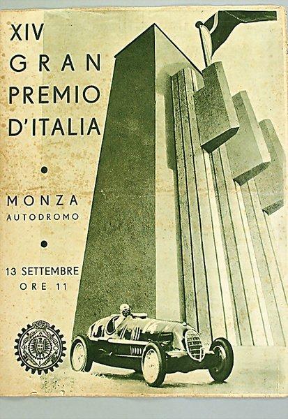 "1421: programme ""XIV. GRAN PREMIO D'ITALIA"" Monza Septe"