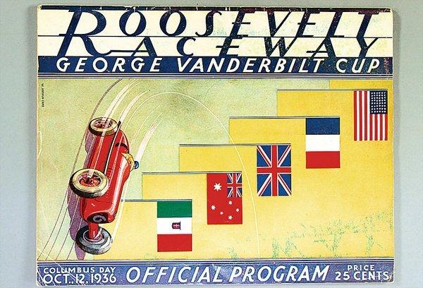 1423: VANDERBILT CUP, programme, on the Roosevelt Field