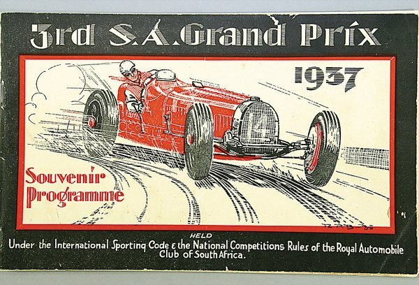 """1424: programme """"3.RD SOUTH AFRICAN GRAND PRIX, Prince"""