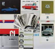 GLASBMW GLAS mixed lot with 56 pieces sales brochures