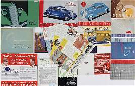 FORD mixed lot with 17 pieces, Ford sales catalogs and