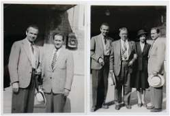 PRIVATE ARCHIVE RUDOLF CARACCIOLA 1946, two B/W photos,