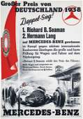 """MERCEDES-BENZ 1938, racing poster small-format """"Großer"""