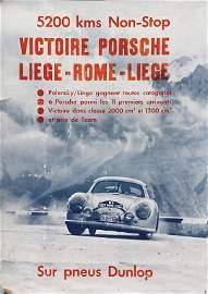 PORSCHE 1952, original racing poster