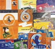 DE SOTO 1939 till 1940, 14 pieces, sales catalogs and