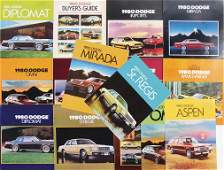 DODGE 1980 mixed lot with 15 pieces sales catalogs and