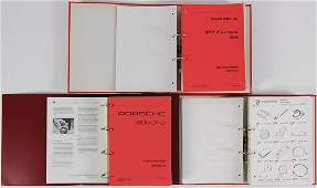 PORSCHE mixed lot with 3 files, technical information