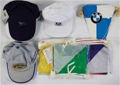 BMW mixed lot with 14 pieces, 4 x BMW flag chain,