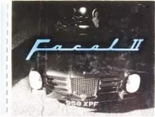 FACEL VEGA 1962 ring binder catalog Facel II produced