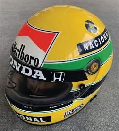 AYRTON SENNA 1988, original crash helmet from the