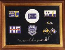 LANCIA mixed lot of 8 coachwork emblems (reproduction),