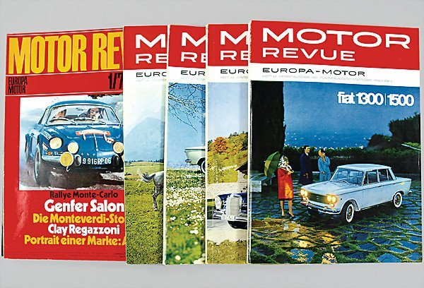 """3: magazine """"MOTOR REVUE"""" issue No. 38 year 1961 to iss"""