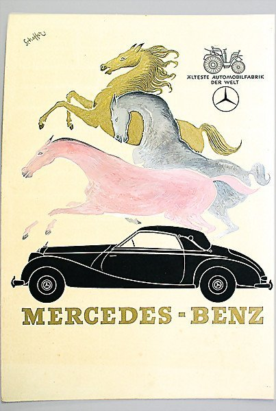 """5: design of an advertisement """"Schaffer Mercedes-Benz 2"""