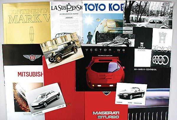 7: treasure chest, original brochures, catalogs and pre