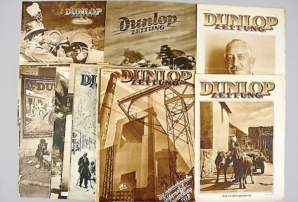 8: DUNLOP newspaper mixed lot of 18 issues, 1923: editi