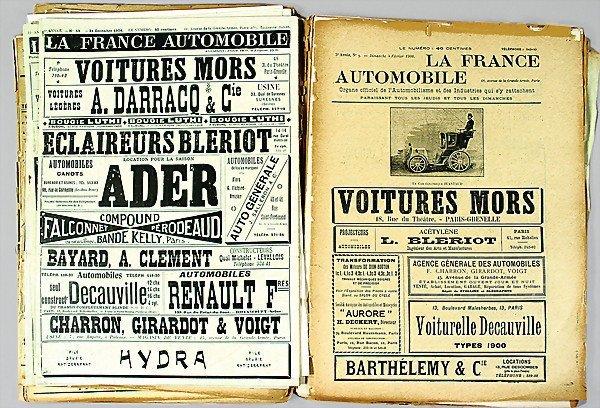 12: LA FRANCE AUTOMOBILE 20 parts, magazine, 1900, edit
