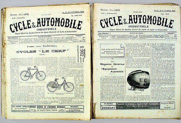 """13: magazine """"CYCLE & AUTOMOBILE"""" 25 issues, 1912: issu"""