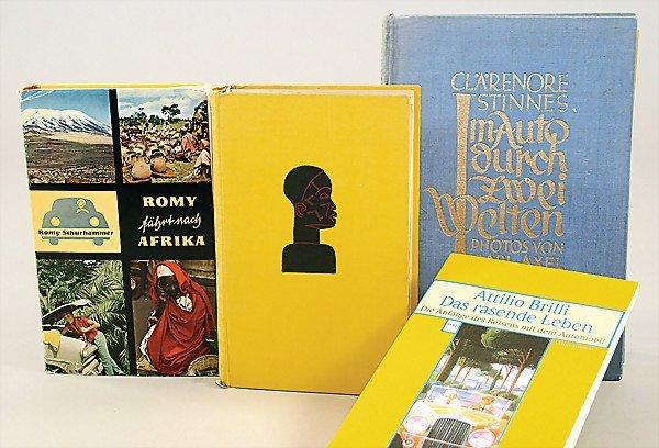 "14: mixed lot of books, 4 pieces, 1x ""Romy fährt nach A"