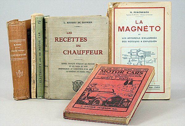 """17: mixed lot of books, 6-pieces, 1x """"Motor Cars"""" by C."""