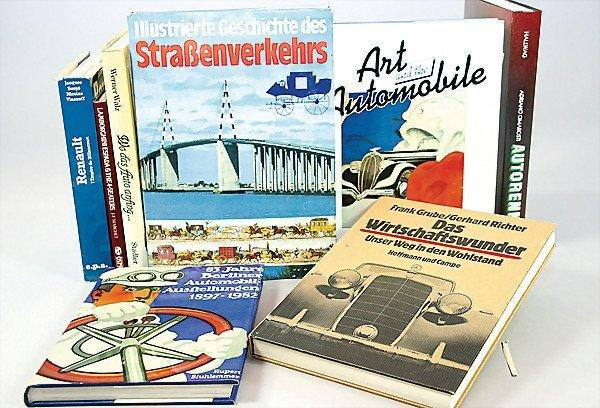 "19: mixed lot of books, 8 pieces, 1x ""Autorennen"" Adria"